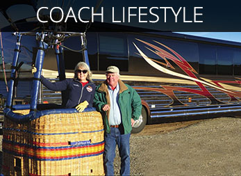 Experience the world of Luxury RV Travel with all the amenities of a yacht without the waves.