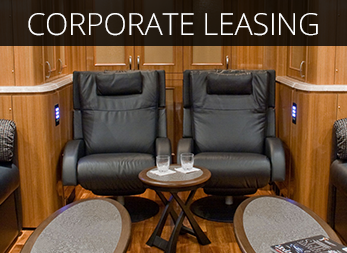 Luxury Marathon/Prevost Corporate Coach available for lease.